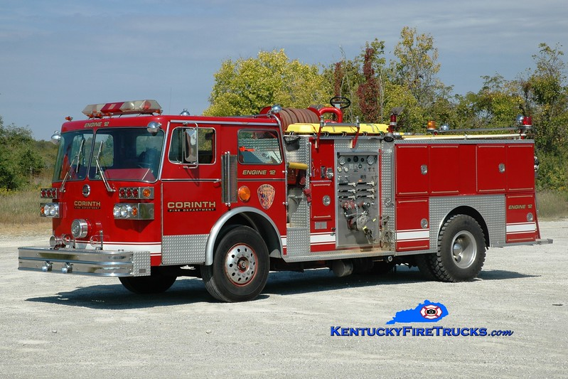 <center> Corinth  Engine 12 <br> x-Fort Mitchell, KY <br> 1983 Sutphen Deluge 1500/500 <br> Greg Stapleton photo </center>