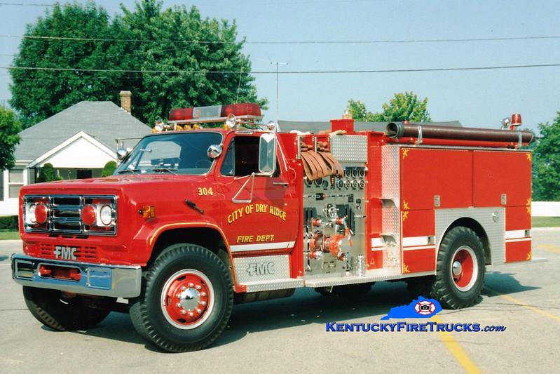 <center> RETIRED <br> Dry Ridge Engine 304 <br> 1988 GMC/FMC 1000/1000 <br> Greg Stapleton photo </center>