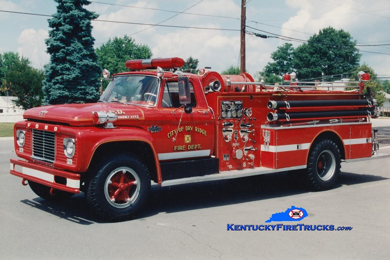 RETIRED <br /> Dry Ridge  Engine 303<br /> 1963 Ford/Boyer 750/500<br /> Greg Stapleton photo