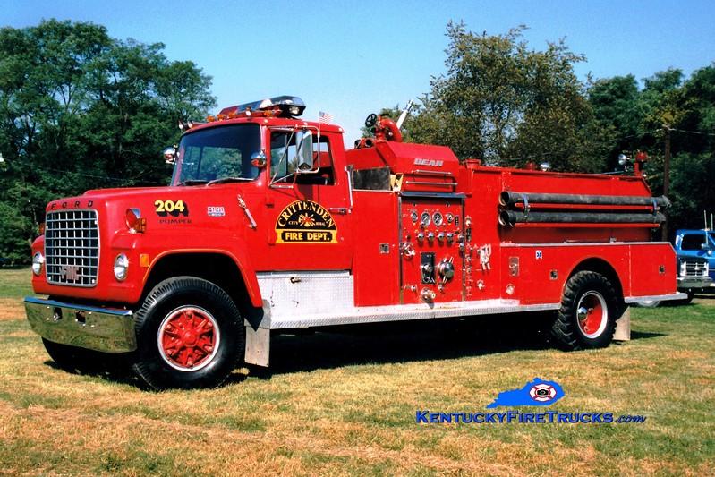 <center> RETIRED <br> Crittenden  Engine 204 <br> 1977 Ford L/FMC-Bean 1000/1000 <br> Greg Stapleton photo </center>