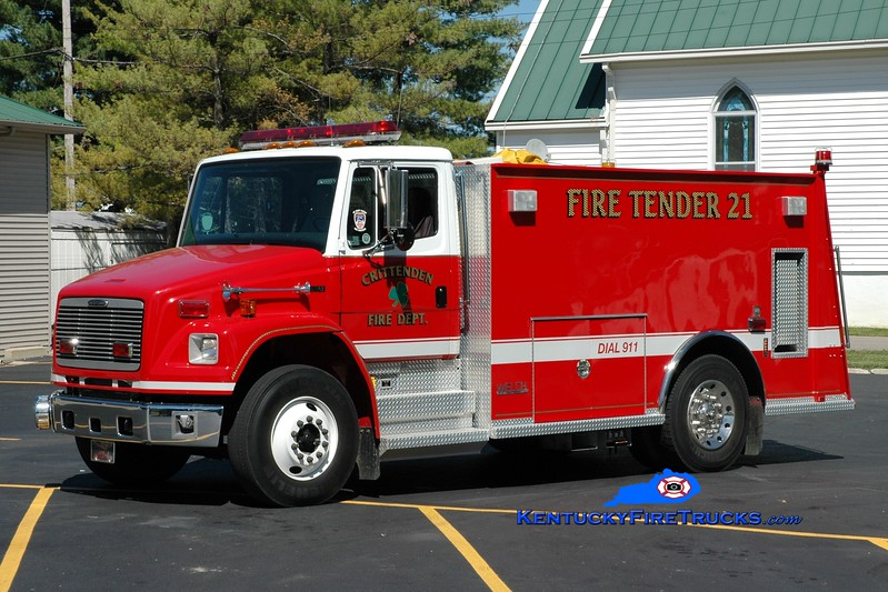 <center> Crittenden  Tanker 21 <br> 2001 Freightliner FL80/Welch 250/1500 <br> Greg Stapleton photo </center>