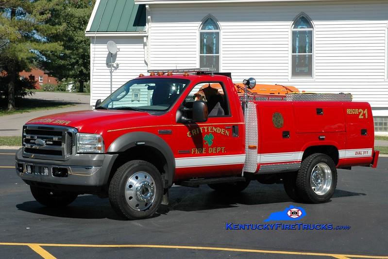 <center> Crittenden  Rescue 21 <br> 2005 Ford F-450 4x4/Reading/CET 150/250 <br> Greg Stapleton photo </center>