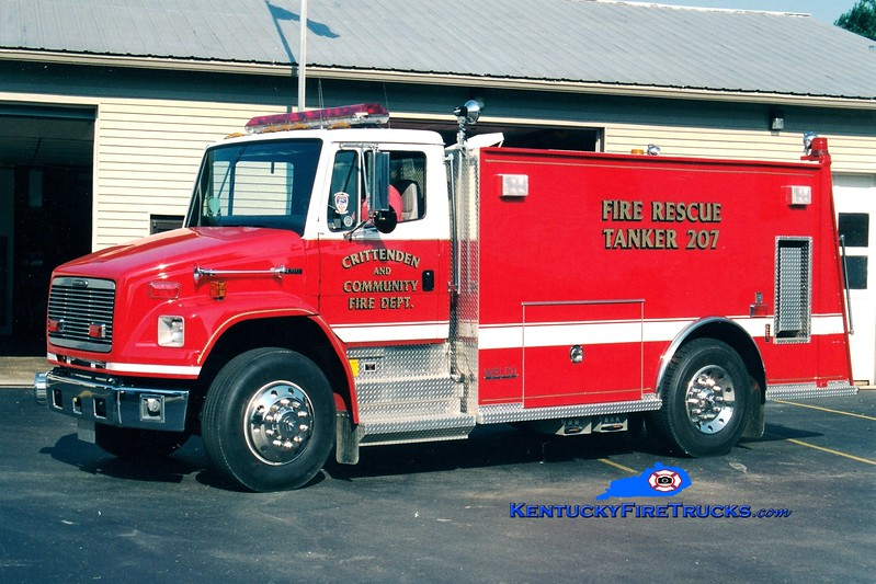 <center> Crittenden  Tanker 21 <br> *Lettered previously as Tanker 207 <br> 2001 Freightliner FL80/Welch 250/1500 <br> Greg Stapleton photo </center>