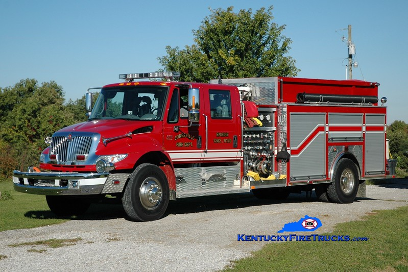 <center> Jonesville  Engine 1202 <br> 2008 International 4400/Ferrara 1250/1250 <br> Greg Stapleton photo </center>