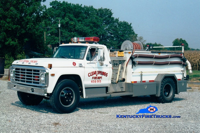 <center> RETIRED <br> Clear Springs  Engine 1 <br> 1974 Ford F-800/Local 500/1000 <br> Greg Stapleton photo <br> </center>