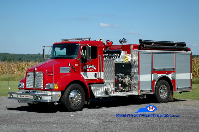 <center> Clear Springs  Engine 1 <br> 2004 Kenworth T-300/Pierce 1250/1000 <br> Greg Stapleton photo </center>