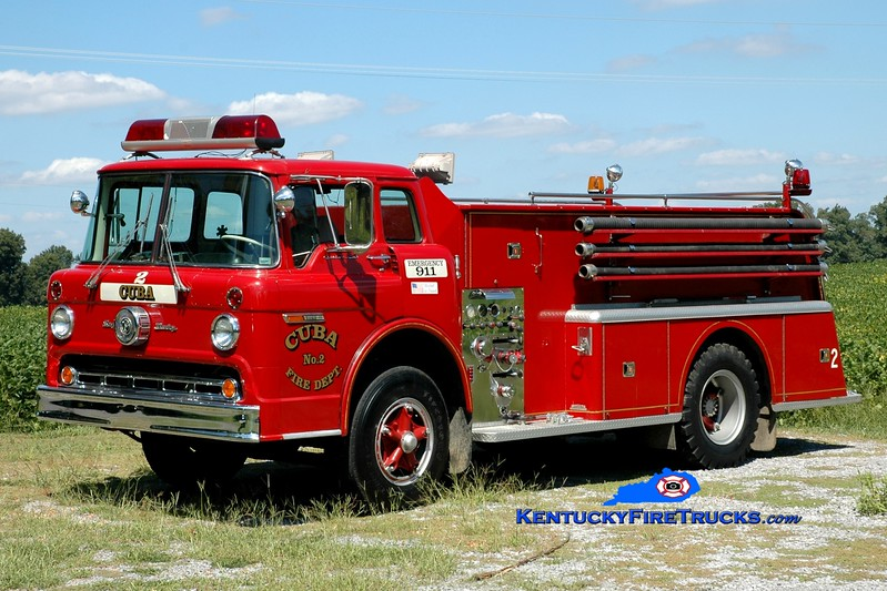 <center> Cuba  Engine 2 <br> x-Centennial, PA <br> 1972 Ford C-900/Bruco 350/1000 <br> Greg Stapleton photo <br> </center>