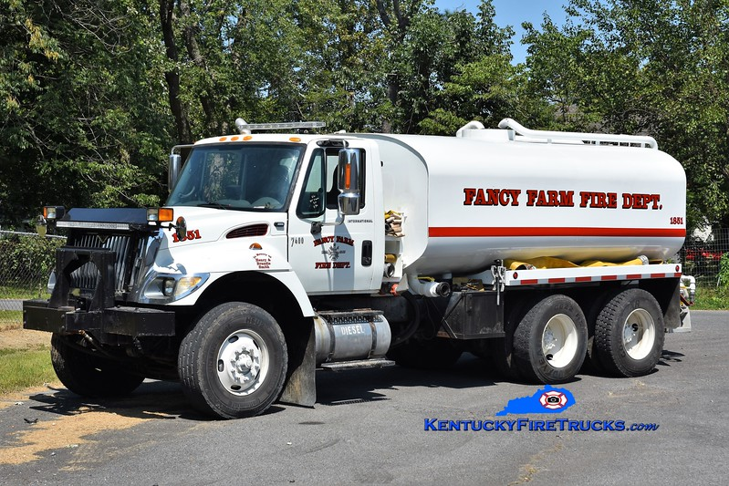 Fancy Farm  Tanker 1851<br /> x-Ohio DOT<br /> 2006 International 7400/Ohio Penal 500/4000<br /> Greg Stapleton photo