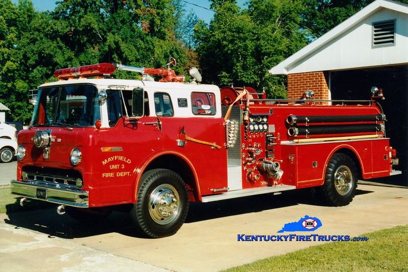 <center> RETIRED <br> Mayfield  Engine 3 <br> 1974 Ford C/Howe 1000/500 <br> Greg Stapleton photo <br> </center>