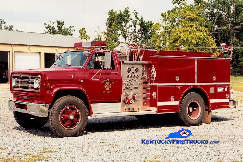 <center> Melber  Engine 1 <br> 1984 GMC 7000/Grumman 1000/750 <br> Greg Stapleton photo <br> </center>