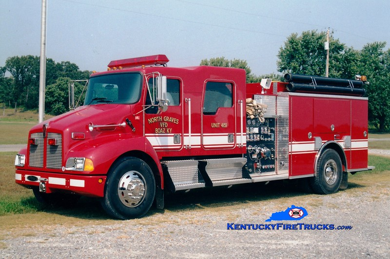 <center> North Graves  Engine 4151 <br> 2001 Kenworth T-300/Pierce 1250/1000 <br> Greg Stapleton photo <br> </center>