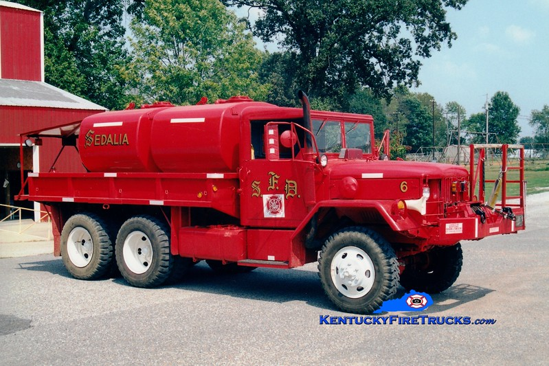 <center> Sedalia  Brush 6 <br> 1967 Kaiser M35/FD 250/1200 <br> Greg Stapleton photo <br> </center>