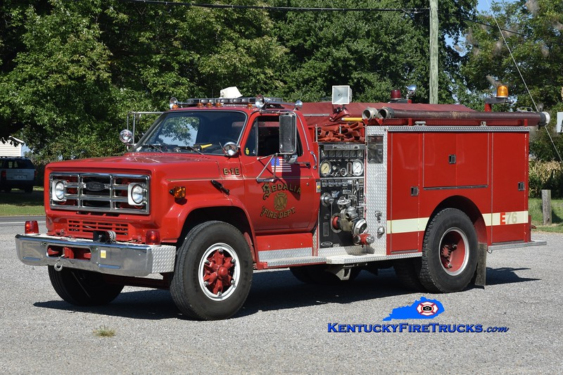 Sedalia  Engine 1<br /> x-Bath, NY<br /> 1981 GMC/Pierce 750/500<br /> Greg Stapleton photo