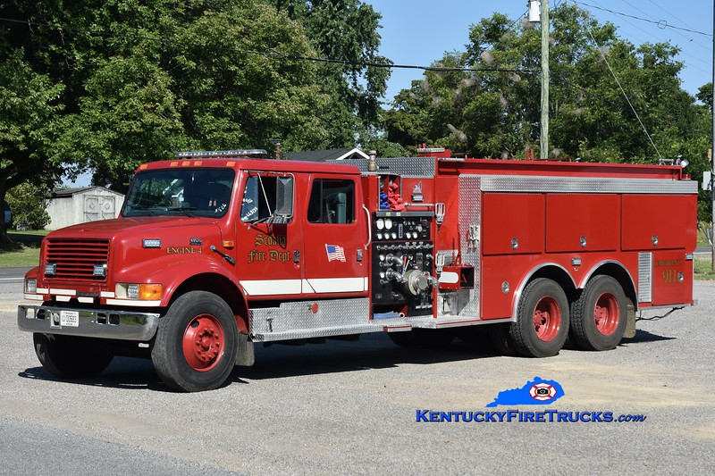 Sedalia  Engine 4<br /> x-Hutchinson, KS<br /> 1994 International 4900/Smeal 1250/2000<br /> Greg Stapleton photo