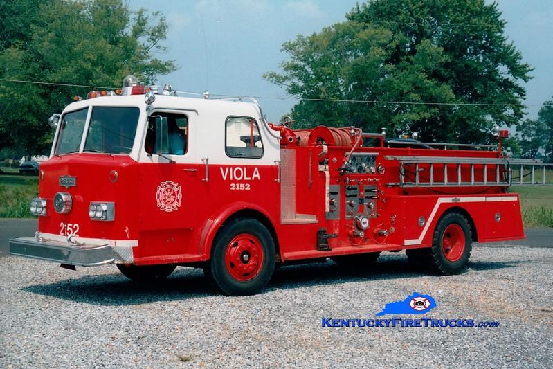 <center> RETIRED <br> Viola  Engine 2152 <br> x-Paducah, KY <br> 1974 Pirsch  1250/500 <br> Greg Stapleton photo </center>
