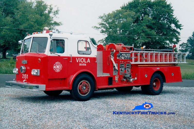 <center> RETIRED <br> Viola  Engine 2151 <br> x-Paducah, KY <br> 1974 Pirsch  1250/500 <br> Greg Stapleton photo </center>
