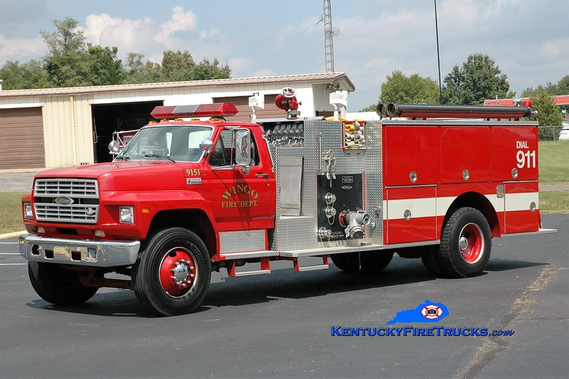 Wingo  Engine 9151<br /> x-Fairland, IN<br /> 1991 Ford F-800/Pierce 1000/1000<br /> Greg Stapleton photo