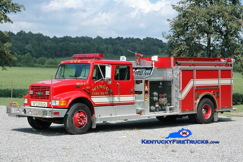 Wingo  Engine 9153<br /> x-Knightstown, IN<br /> 2000 International 4900/Pierce 1000/1000<br /> Greg Stapleton photo