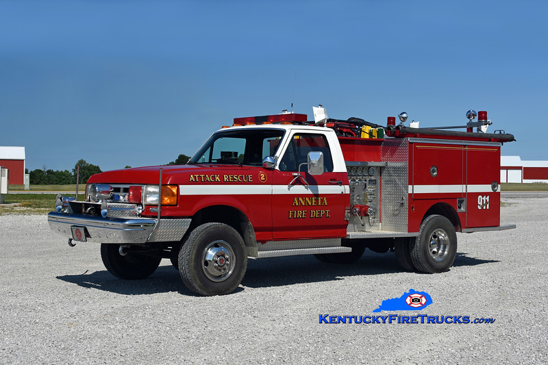 Anneta  Rescue 2<br /> x-Leitchfield, KY<br /> 1991 Ford F-450 4x4/Pierce 400/250<br /> Kent Parrish photo