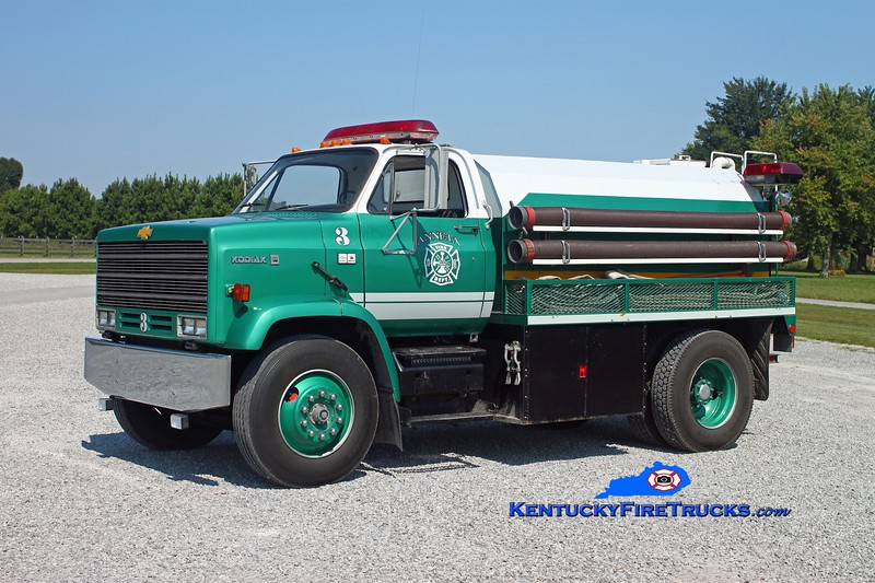 <center> Anneta  Tanker 3 <br> x-West Valley, TN <br> 1984 Chevy Kodiak/1992 Deep South 500/1500 <br> Kent Parrish photo </center>