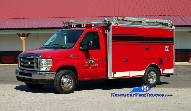 <center> Clarkson  Rescue 91  <br> 2008 Ford E-350/Supreme Body  <br> Kent Parrish photo </center>