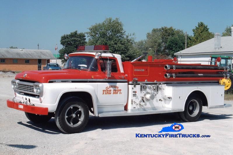 <center> RETIRED  <br> Clarkson  Engine 904  <br> 1954 Ford/American LaFrance 500/500 <br> Greg Stapleton photo </center>
