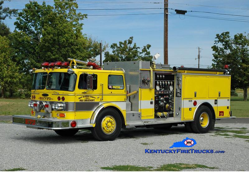 <center> East Grayson  Engine 72 <br> x-Springettsbury, PA <br> 1979 Oshkosh/Pierce 1000/750 <br> Greg Stapleton photo </center>