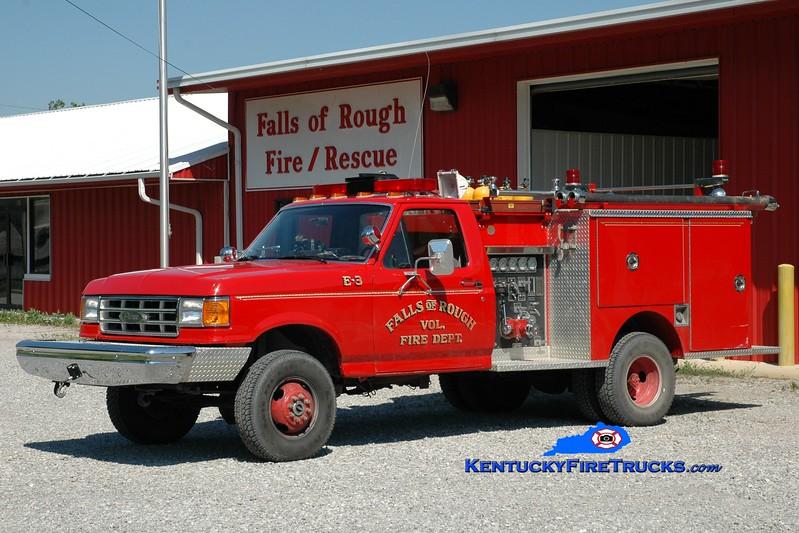 <center> Falls of Rough  Engine 3  <br> 1988 Ford F-350 4x4/Pierce 400/250 <br> Greg Stapleton photo </center>