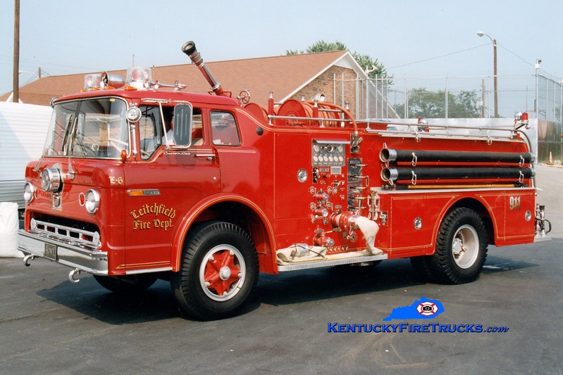 <center> RETIRED <br> Leitchfield  Engine 6 <br> 1972 Ford C/Howe 1000/750 <br> Greg Stapleton photo </center>