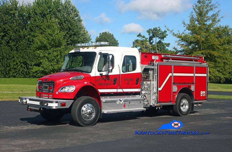 Leitchfield  Engine 8<br /> 2017 Freightliner M2-106 4x4/Pierce 1250/500/30<br /> Kent Parrish photo