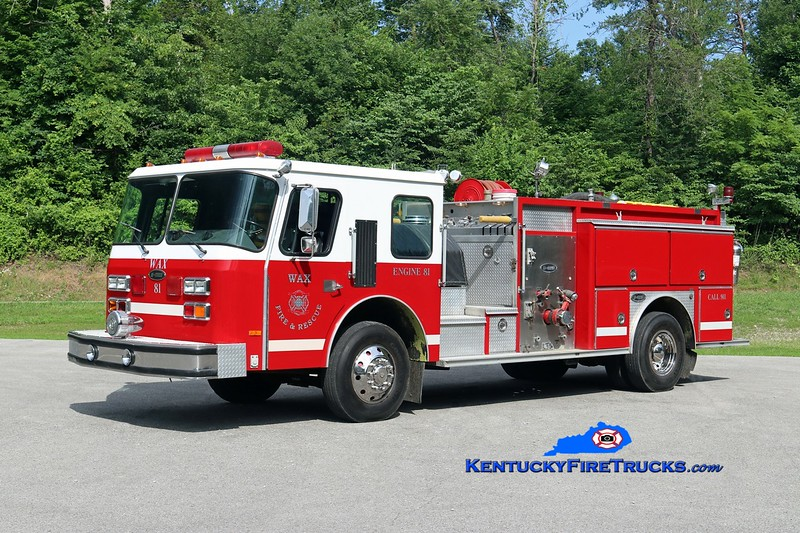 Wax  Engine 83<br /> x-Hillsborough County, FL <br /> 1988 E-One Cyclone 1000/750<br /> Kent Parrish photo