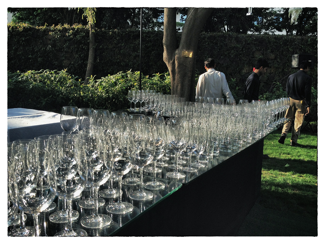 Delhi, India, Feb 2013 -    Staff prepare for a party  at Trident hotel in Gurgaon where the water is scarce.   Images for the Global Post's special report -   The Great Divide:  Global income inequality and its cost    Photograph:  Sami SIVA