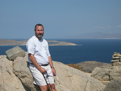 Joe on the island of Delos.