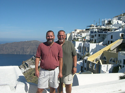 Joe (left) and Ed (right) in Santorini.