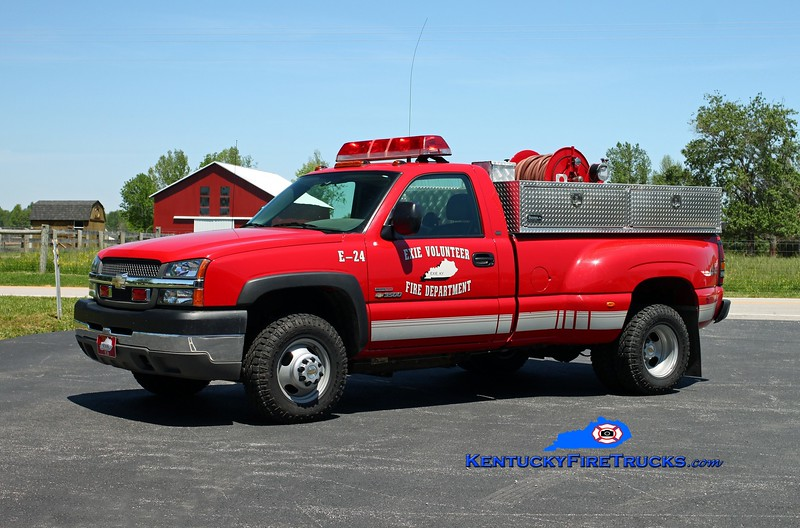 <center> Exie Engine 24 <br> 2003 Chevy 3500 4x4/Wynn 250/250 <br> Kent Parrish photo </center>