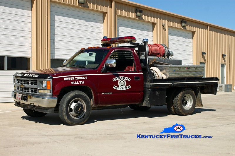 <center> Green County  Brush 5 <br> 1994 Chevy 3500 4x4/Pro Poly 250/250 <br> Kent Parrish photo </center>
