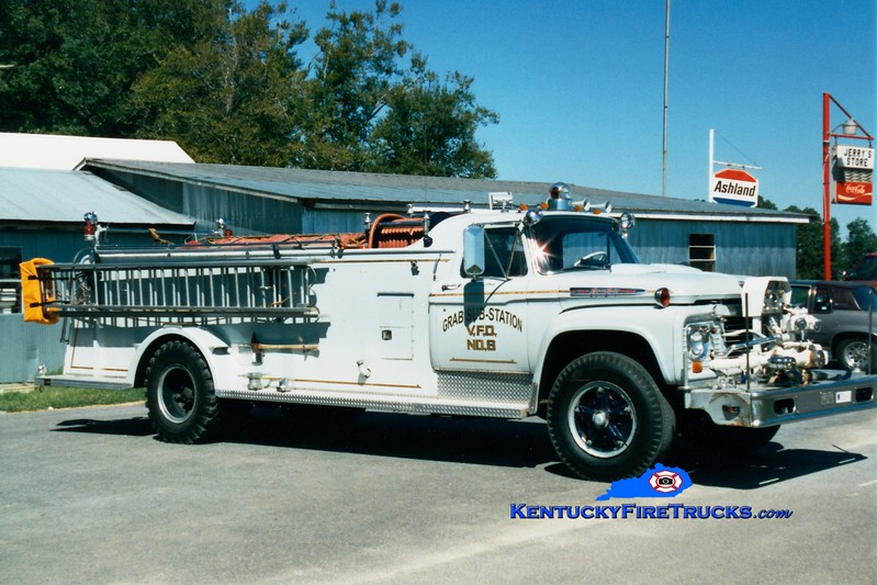 <center> RETIRED <br> Green County  Engine 6  <br> x-Kinwood, WV <br> 1963 Ford F/Sutphen 500/1100 <br> Greg Stapleton photo </center>