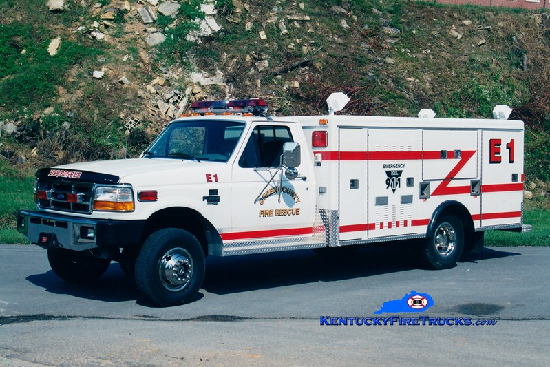 <center> RETIRED <br> Green County Rescue 1 <br> 1997 Ford F-350/McCoy Miller  <br> Greg Stapleton photo </center>