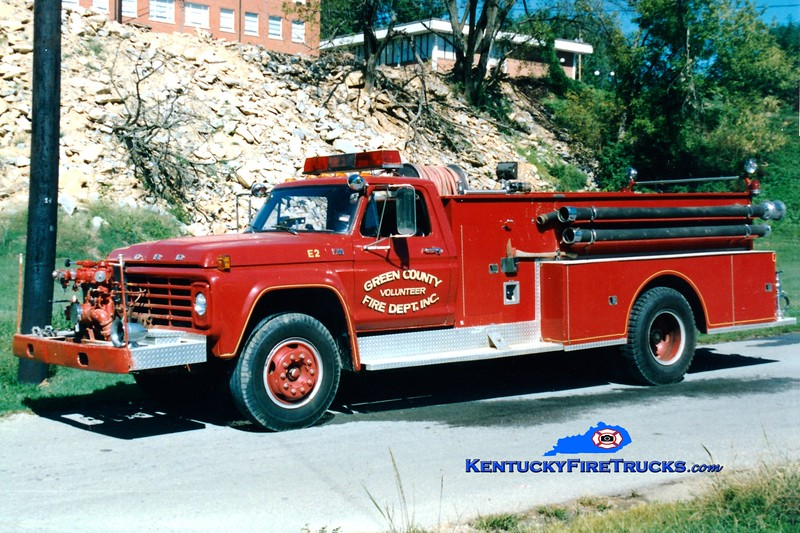 <center> RETIRED <br> Greensburg  County Engine 2 <br> 1980 Ford F/American 750/750 <br> Greg Stapleton photo </center>
