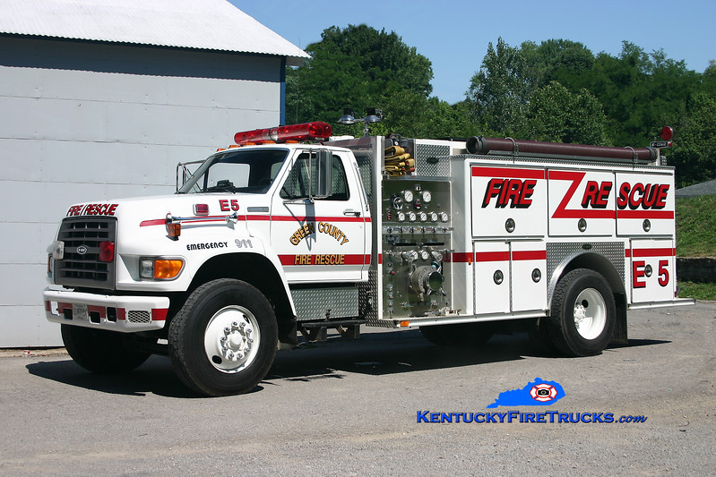 <center> RETIRED <br> Green County  Engine 5 <br> 1994 Ford F-750/E-One 1250/1000 <br> Kent Parrish photo </center>