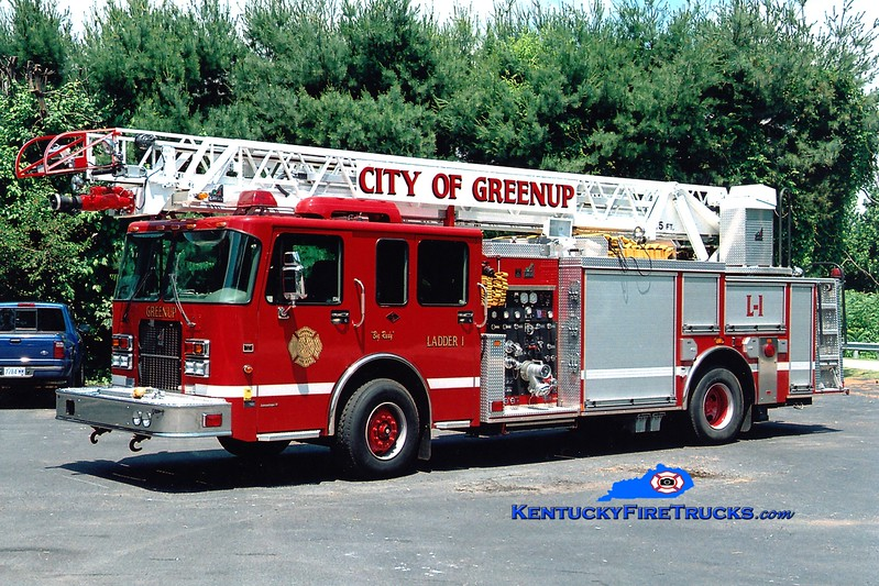 <center> Greenup  Ladder 1 <br> 2005 Spartan Advantage/Smeal 1250/500/75' <br> Greg Stapleton photo </center>