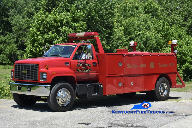 Little Sandy Tanker 3 <br /> 2002 Chevy 7500/Local 350/1500 <br /> Greg Stapleton photo