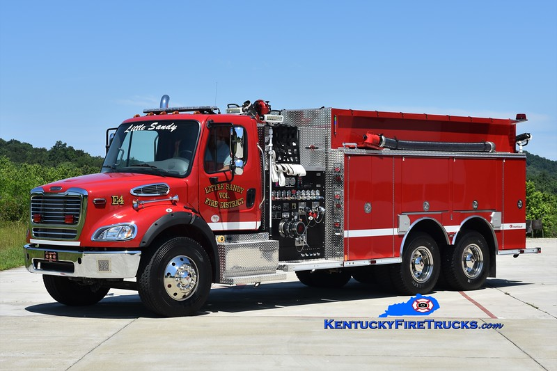 Little Sandy Engine 4<br /> 2017 Freightliner M2-112/Rosenbauer 1500/2500<br /> Greg Stapleton photo