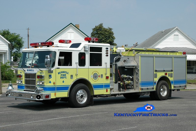 <center> Russell  Rescue 5 <br> 2003 Pierce Dash 1500/750  <br> Greg Stapleton photo </center>