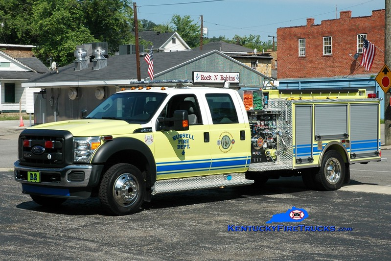 <center> Russell  Rescue 2 <br> 2013 Ford F-550 4x4/Pierce 1000/300  <br> Greg Stapleton photo </center>