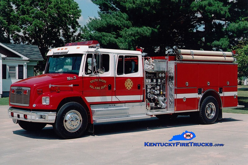 <center> RETIRED <br> South Shore  Engine 3 <br> 1994 Freightliner FL80/Pierce 1250/1000 <br> Greg Stapleton photo </center>
