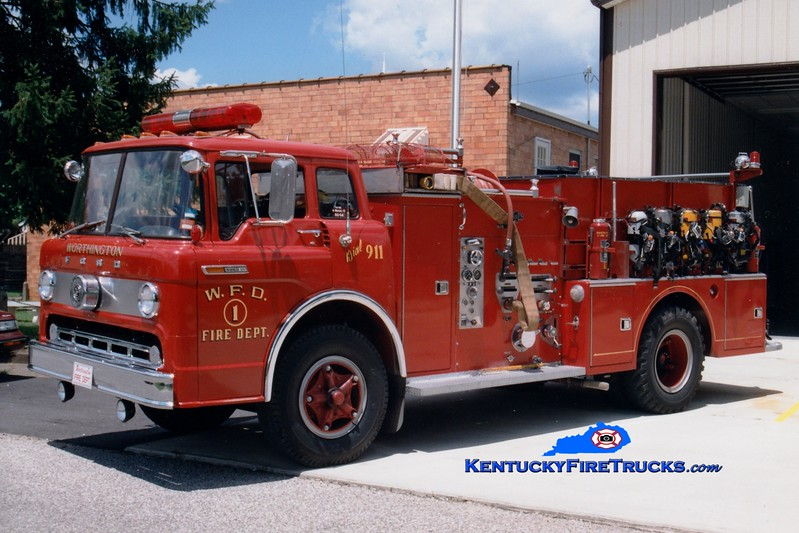 Worthington  Engine 1<br /> 1970 Ford C-850/Ward LaFrance 1000/750<br /> Greg Stapleton photo