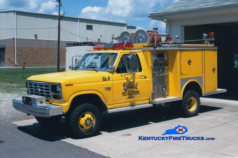 <center> RETIRED <br> Wurtland  Engine 3 <br> 1986 Ford F-350 4x4/Allegheny 250/250 <br> Greg Stapleton photo </center>