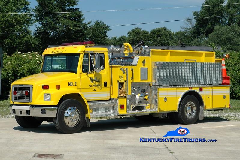 <center> Wurtland  Engine 2 <br> 2001 Freightliner FL80/Smeal 1250/1000 <br> Greg Stapleton photo </center>