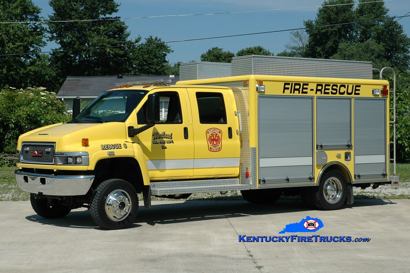 <center> Wurtland  Rescue 6 <br> 2007 GMC 5500/Pierce <br> Greg Stapleton photo </center>
